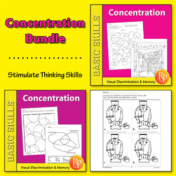 Concentration: Stimulate Thinking Skills {Bundle}