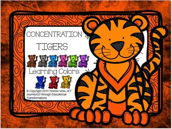Concentration Tigers Learning Colors