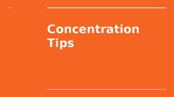 Concentration Tips Slideshow