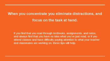Concentration Tips Slideshow