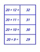 Concentration for Addition from 10 + 0 to 20 + 20