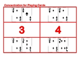 Concentration for Playing Cards Red Game
