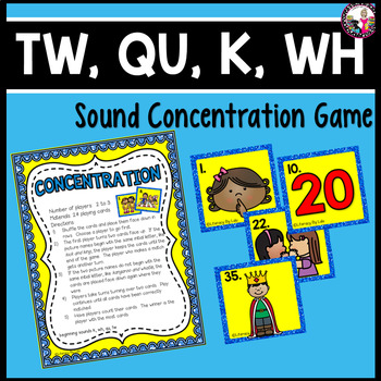 Concentration for tw, k, qu, and wh!