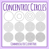 Concentric Circles Clip Art Pack for Commercial Use