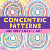 Art Project: Easter Egg Concentric Patterns