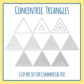 Concentric Triangles Graphic Organisers / Diagrams Clip Art for Commercial Use