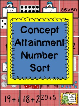 Representing Numbers - Concept Attainment Number Sort