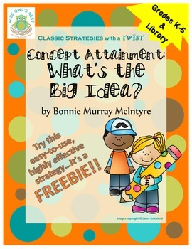 Concept Attainment: What's the Big Idea? -lessons, posters, printables, strategy