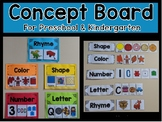 Concept Board Cards and Visuals for Preschool