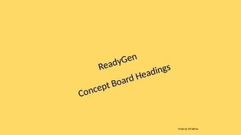 Concept Board Headings