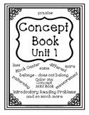 Concept Book - Preschool Basics - Unit 1