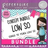 Kodaly Music Concept Bundle: Songs to Teach Low So