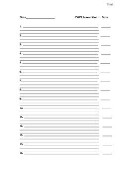 Concept Card Answer Sheet