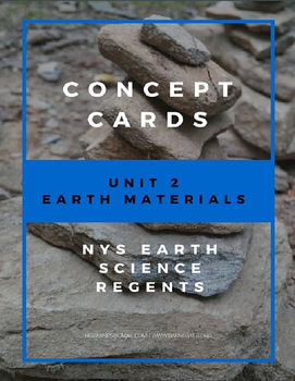 Concept Cards - Earth Materials