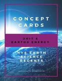 Concept Cards - Earth's Energy