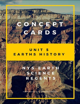 Concept Cards - Earths History