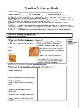 Concept Compare and Question Exploration: What are the Kinds of Fossils?