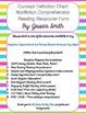 Concept Definition Chart for Nonfiction Reading Comprehension