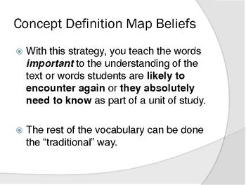 Concept Definition Map Tutorial