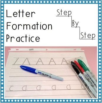 Step-by-Step Letter Formation Practice *Printable* upper and lower case