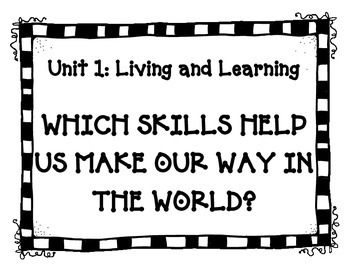 Concept Map Prompts - Reading Street 2013 - 3rd Grade - ALL Units