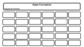 Concept Map Reading Street Curriculums Spanish/English No Color