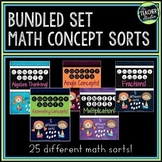 Math Sorts Bundle!  25 Math Lessons to Improve Math Talk and Math Practices!