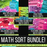 Math Sorts Bundle!  25 Math Lessons to Improve Math Talk a