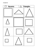 Concept Sort: Squares and Triangles