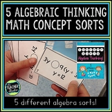Math Concept Sorts:  5 Algebra Thinking Sorts for Fourth Grade and Fifth Grade