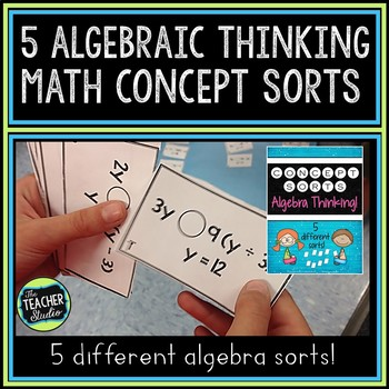 Math Concept Sorts:  5 Algebraic Thinking Sorts for Fourth Grade and Fifth Grade