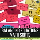 Algebraic Thinking and Numerical Expressions Math Sorts: 4