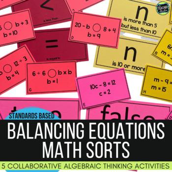 Math Concept Sorts:  5 Algebra Thinking Sorts for Fourth G