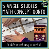 Math Concept Sorts: 5 Angle Sorts for Fourth Grade  and Fifth Grade