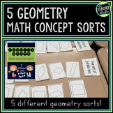 Math Concept Sorts:  5 Geometry Sorts for Third Grade, Fou
