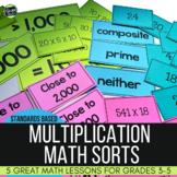 Multiplication Math Sorts:  A Set of 5 Multiplication Less