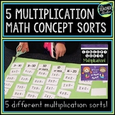 Math Concept Sorts:  A Set of 5 Multiplication Sorts for G