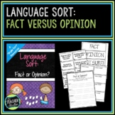 Concept Sorts:  A Single Language Arts Sort for Fact versus Opinion