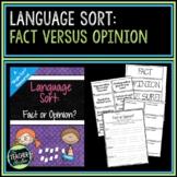 Fact vs Opinion: A Language Arts Concept Sort
