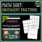 Equivalent Fractions Sort:  A Single Sort Resource
