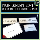 Measuring with a Ruler: A Math Sort to Practice Measuring Length