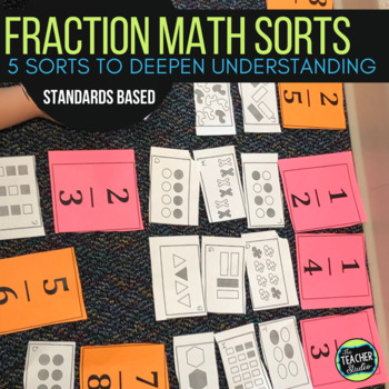 Math Sorts:  5 Fraction Activities for Fourth Grade and Fifth Grade