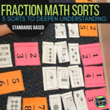 5 Fractions Math Sorts Activities for Fourth Grade and Fif