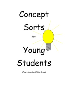 Concept Sorts for Young Students