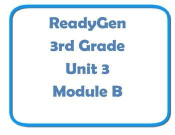 Concept board ReadyGen Unit 3 module B 3rd grade