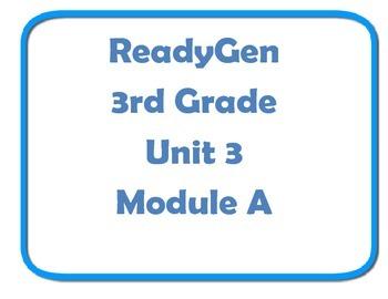 Concept board ReadyGen Unit 3module A 3rd grade Posters