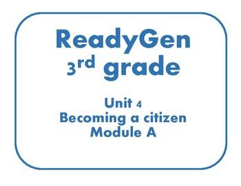 Concept board posters ReadyGen 3rd grade unit 4 module A