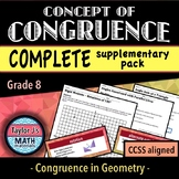 Concept of Congruence - Complete Supplementary Pack & Word Wall
