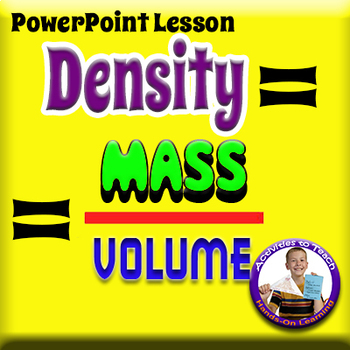 Concept of Density for Middle & High School Science