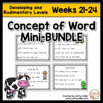 Concept of Word Intervention BUNDLE:  Weeks 21-24